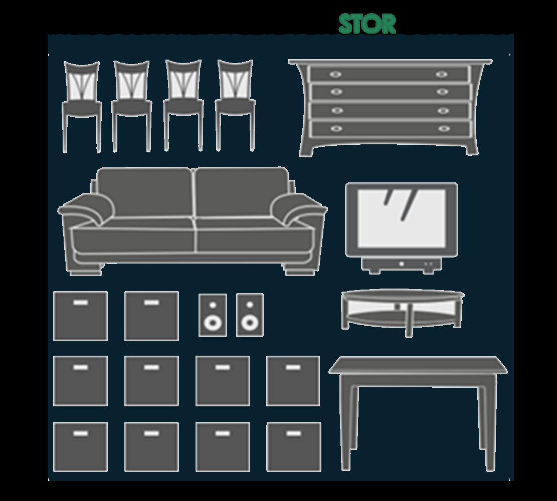 3x34 - forskellige møbler